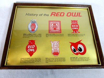 Vintage The History of Red Owl Foods grocery store framed logo designs