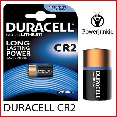 1 X Duracell Ultra Photo DLCR2 3V Lithium Batteries CR15H270/EL1CR2 Expiry 2024