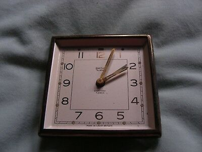 Smiths vintage travel alarm clock - not working- in leather case