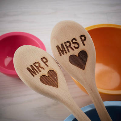 Personalised Engraved Large Wooden Spoons Wedding Gift