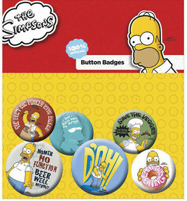 Simpsons Ansteck-Buttons 6er-Pack Homer