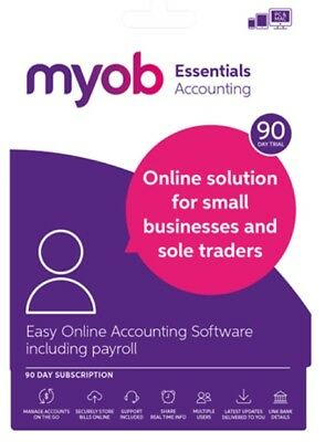 MYOB Essentials Accounting with Payroll 90 Day Trial - Electronic Download