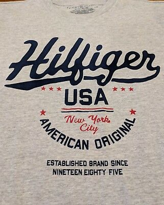 Boy's Tommy Hilfiger Size X-Large, T-shirt New With Out Tags, Gray, Short Sleeve