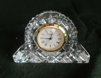 Waterford Crystal Small Mantel Clock with new battery