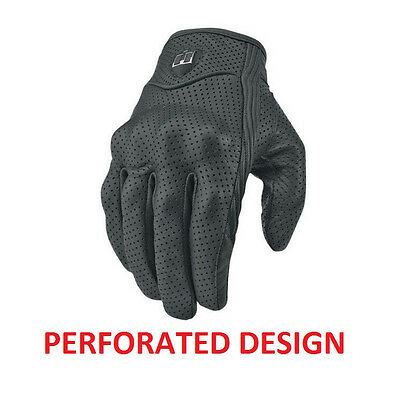 Bike Motorcycle Riding Black Short Summer Protective Armor Mesh Leather Gloves