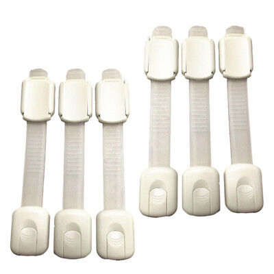 6Pcs Baby Child Safety Lock Proof Cabinet Drawer Fridge Cupboard Door,White