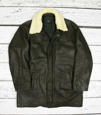 93341f04d LACOSTE REAL COW Leather Beautiful Mens Jacket Coat Xl