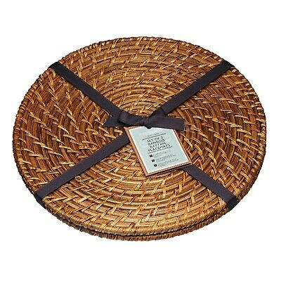 Artesa Natural Bamboo Rattan Round Placemats Tablemats or Serving Mats