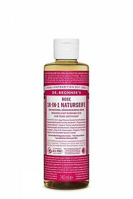 1x Dr. Bronners 18-IN-1 Naturseife Rose vegan & fair trade 240ml (45.42 E