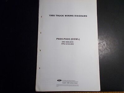 1989 ford f600-f800 cowl truck wiring diagrams