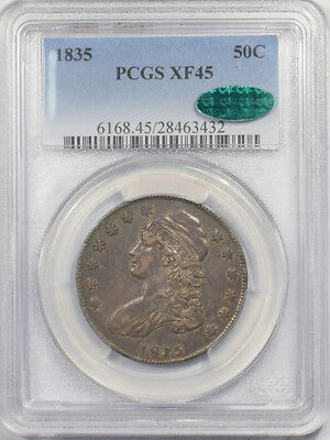 1835 Capped Bust Half Dollar Pcgs Xf-45 Cac Approved