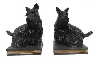 Black Scottish Terriers Set of Bookends