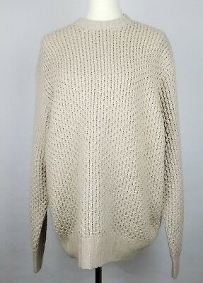 VTG 70s Cashmere Oversized Sweater Ivory Saks Fifth Avenue Folio Collection Sz L