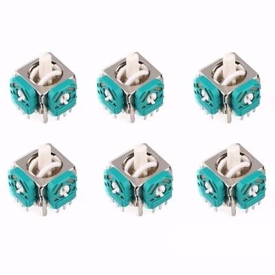 6pcs Analog Joystick Stick Switch For GameCube NGC Wii Nunchuk Controller New