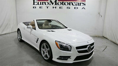 Mercedes-Benz SL-Class 2dr Roadster SL 400 mercedes benz sl400 sl 400 roadster convertible white tan 14 15 used certified