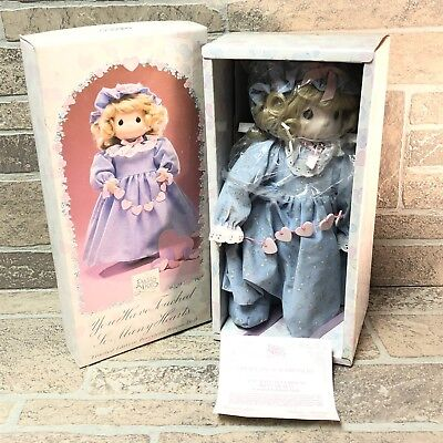 """Precious Moments Porcelain Doll YOU HAVE TOUCHED SO MANY HEARTS 13"""" NEW NIB"""