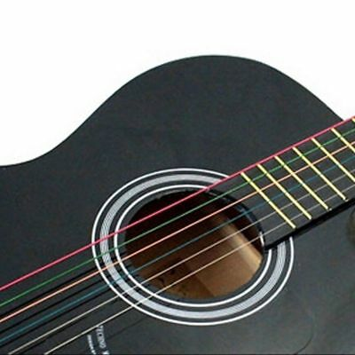NEW One Set 6pcs Rainbow Colorful Color Strings For Acoustic Guitar