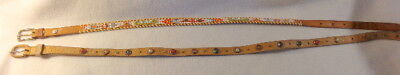 Two Vintage 1950's Child's Belts NATIVE AMERICAN INDIAN and COWBOY WESTERN