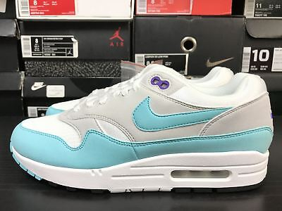 official photos bc12d 48a0c New Nike Air Max 1 Anniversary Aqua White 908375-105 Size 8-13