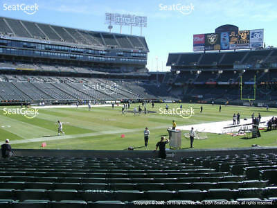 DECEMBER 24~  2 OAKLAND RAIDERS vs DENVER BRONCOS FIELD LEVEL SECTION 122