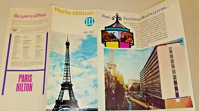 Paris Hilton Hotel France 1969 Brochure