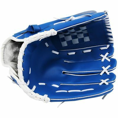 "12.5"" Softball Baseball Handschuh Outdoor Mannschaftssport Linke Hand Blau M2B9"