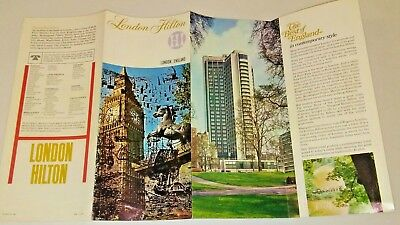 London Hilton Hotel 1970 England Brochure