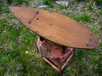 Vintage Folk Art Pond Boat Hand Made Unknown Age Tactille