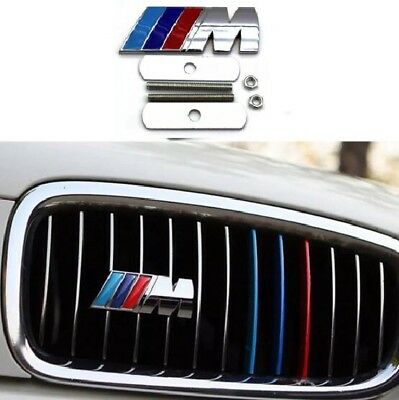 BMW M Sport Front Grill Badge 3D Car Logo Power Emblem Chrome for all Series 1 2