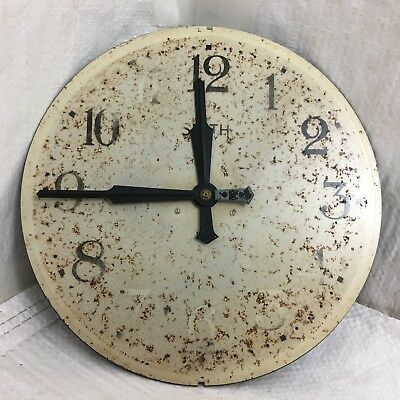 Vintage replacement clock face and movement for Smith 8 day wall clock