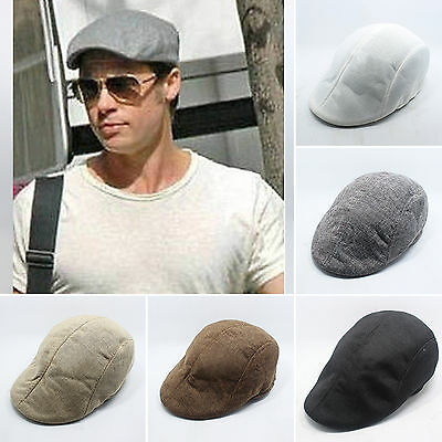Mens Ivy Hat Duckbill Newsboy Gatsby Golf Driving Flat Cabbie Beret Cap  Summer 32889a7ac51