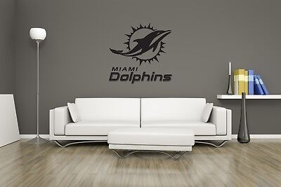 Huge Miami Dolphins Vinyl Sticker Decal Wall Art  / Man Cave