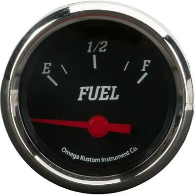 "2"" Fuel Level Gauge, Black, 0-90 Ohm"