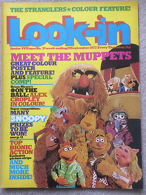 Look In Magazine 24 Sep 1977 #39 Meet The Muppets & The Stranglers
