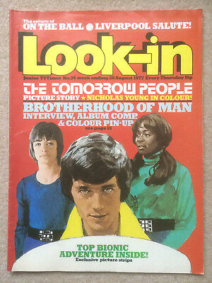 Look In Magazine 20 Aug 1977 #34 The Tomorrow People   /   Brotherhood Of Man