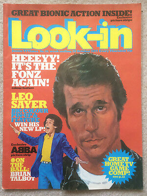 Look In Magazine 29 Oct 1977 #44 The Fonz & Leo Sayer