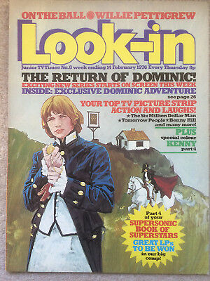 Look In Magazine 14 Feb 1976 #8 The Return Of Dominic