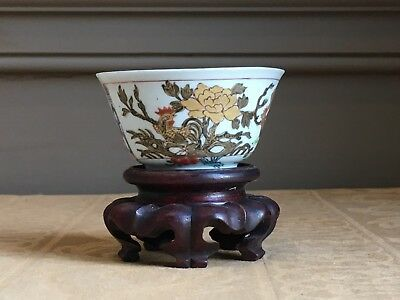 Exceptional quality 18th century yongzheng famille rose Chinese chicken cup