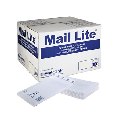 SIZE 000 or A PADDED MAIL LITE LITES ENVELOPES BAGS POST WHITE & GOLD CHEAP