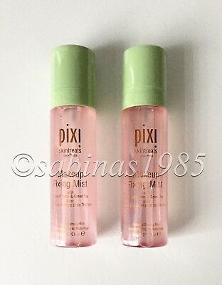 2x 80ml Originalgrösse PIXI MAKEUP FIXING MIST Setting Spray Rosenwasser NEU Ovp