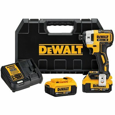 DEWALT DCF887M2 20V MAX XR Li-Ion 4.0 Ah Brushless 3-Speed 1/4 Impact Driver Kit