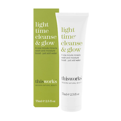 NEUF SOUS BOITE THISWORKS  Light Time Cleanse & Glow Baume Nettoyant 75ml