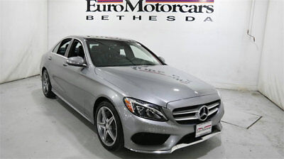 Mercedes-Benz C-Class 4dr Sedan C 300 Sport 4MATIC mercedes benz c300 c 300 4matic awd gray certified 15 16 used navigation silver