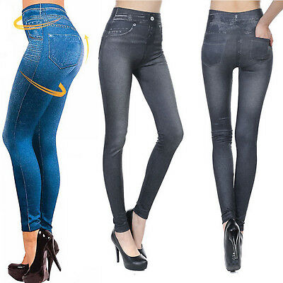Women Skinny Jeggings Stretchy Denim Pants Leggings Jeans Pencil Slim Trousers