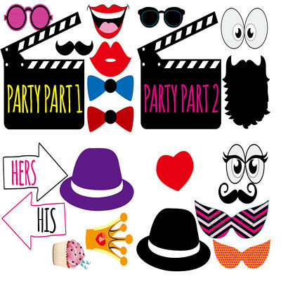 LF0022 20 x Party Props for Decoration Party Function Birthday Selfie Moustache