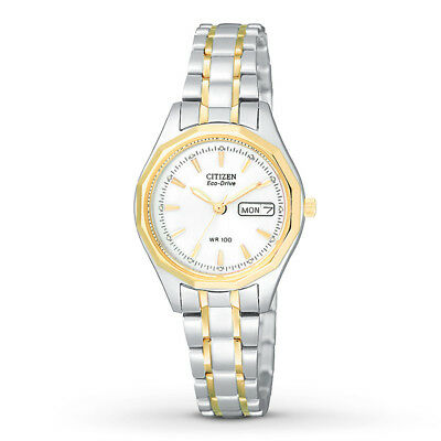 NEW* Citizen Eco-Drive Women's EW3144-51A Silhouette Sport Two-Tone 27mm Watch