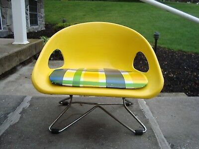 vintage cosco booster seat yellow