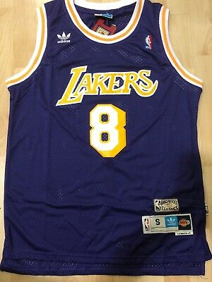 Kobe Bryant #8 Los Angeles Lakers Vintage Purple Throwback Men Jersey