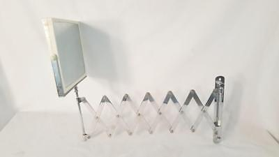 Vintage Scissor Mirror Two-Sided Magnifying Metal Wall Mount