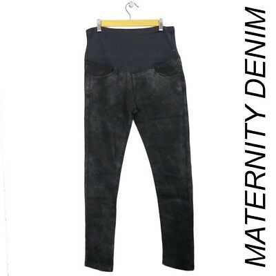 Brand New With Tags Ladies Size M Black Wash Maternity Jeans